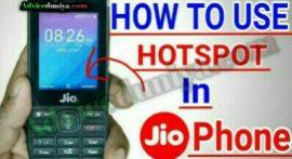 Jio Phone में hotspot कैसे चालू करे?