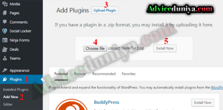 wordpress me plugin install कैसे करे