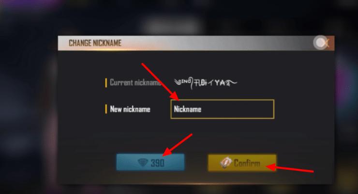 Free Fire Stylish name change